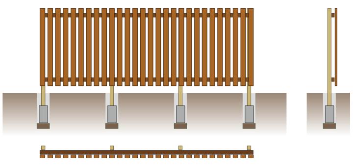 板張りフェンス