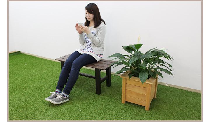 ガーデンベンチ・アルミベンチ・屋外腰掛け・屋外踏み台