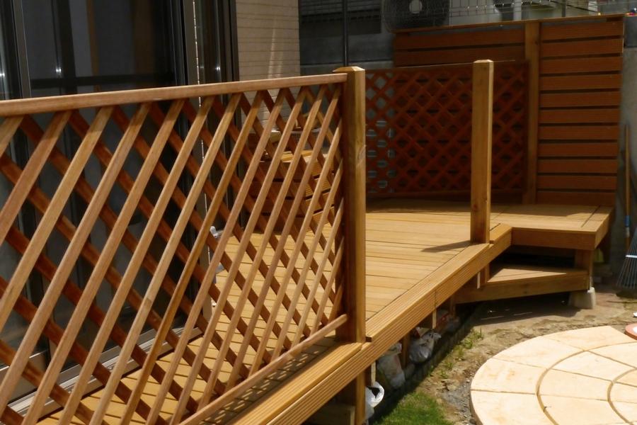 対象のフェンス商品を使用した フェンス施工の様子とBefore After