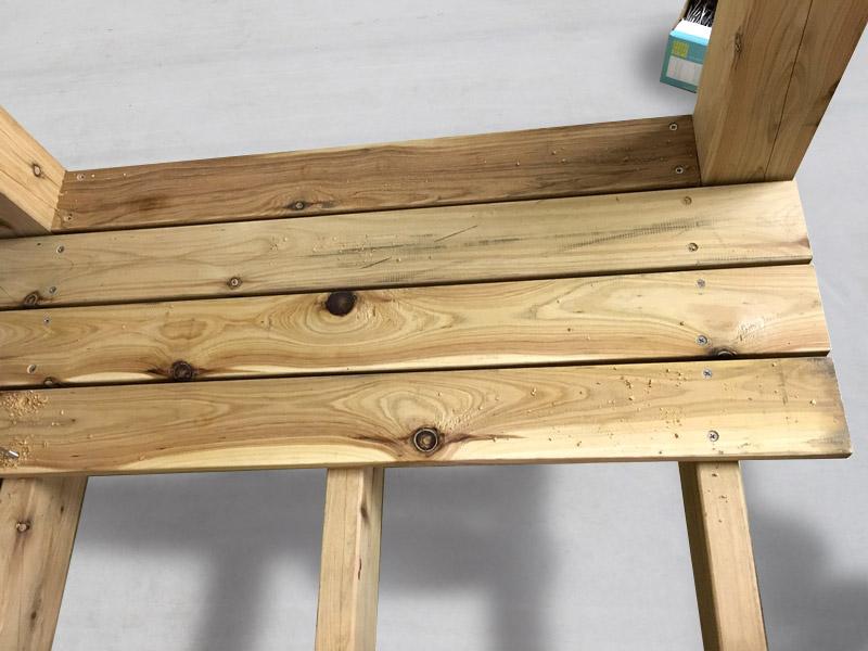 4-2 4枚床板を設置しました。